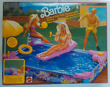 Barbie Mattel Piscina Sun Sensation Splash 'n Go Spray & Play Pool Vintage 1991