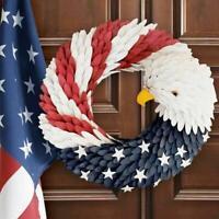 1X American Eagle Wreath Patriotic Wreath for Front Door Election Vote President