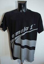 MENS FORMULA 1 SHIRT T SHIRT SHORT SLEEVE COTTON BLACK SIZE XL L VGC