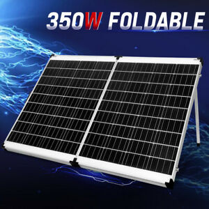MOBI 350W Folding Solar Panel Kit Mono Cell Completed Kit Dual USB 12V 4WD
