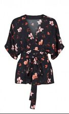 Pip floral kimono cut blouse by Just Female Size XL (UK16)
