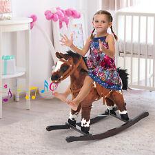 Homcom Schaukelpferd Plüsch Schaukeltier Babyschaukel Spielzeug Kinder töne