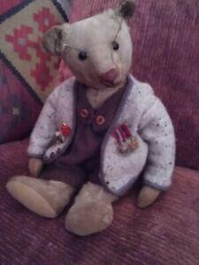 Bertie Antique  steiff teddy bear 1910