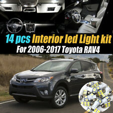 14Pc Super White Interior LED Light Bulb Kit Package for 2006-2017 Toyota RAV4