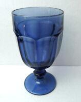 Duratuff Blue Libbey Drinkware Glass Goblet Tea Water Glassware