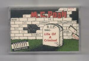 M.C. POOH - Life of a criminal SEALED Cassette 1990 rare In-A-Minute Records