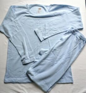 Duofold Champion Thermal Underwear Top Set Women's XL Sky Blue Ankle Length