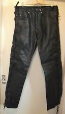 Held Lace Leather Jeans  Black Size EU 52 UK 34  Motorcycle Bike Goth Metal Rock