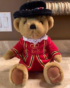 Harrods Knightsbridge Vintage Beefeater Teddy Bear Plush Stuffed Collectible-EUC