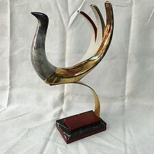 Vintage Galos Superbe céramique Oiseaux sur socle grande dimension 70's signé