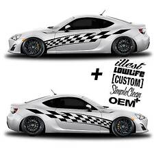 vinyl body GRAPHICS Racing Flag car sticker decal 201 + 5 Decals JDM Euro race