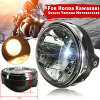 "7"" Motorcycle Motorbike Round Front Headlight Halogen H4 Bulb Lamp Universal"