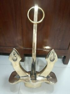Nautical marine ship Brass new Anchor gun metal very good condition 1 piece