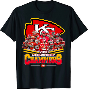 Kansas City Chiefs AFC Championship 2021 Champions T-Shirt Black S-5XL