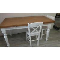 Table Oak White 2 Extending Or Opening Folding (715-716-717)