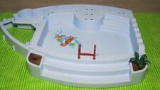 Playmobil SWIMMING POOL DIORAMA  #4858 Replacement Part-w/Ladder/Plant lot set