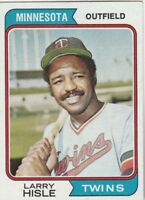 FREE SHIPPING-NRMINT TO VG-1974 TOPPS #366 LARRY HISLE MINNESOTA TWINS