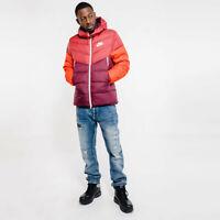 Nike Sportswear Windrunner Down Fill Hooded Jacket Red 928833-661 Men's NWT