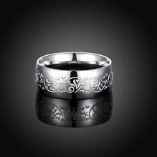 Man and woman 316L fashion pattern titanium steel men's steel ring size9 #W006