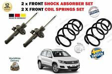 FOR VW TIGUAN + 4MOTION 2007-2015 2X FRONT SHOCK ABSORBERS + 2X COIL SPRINGS SET