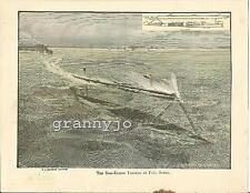 Original 1892  The Sims-Edison Torpedo At Full Speed Print  US Navy