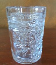 Indiana Glass #162 Narcissus Spray EAPG Flat Tumbler(s)