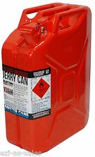 20L METAL JERRY CAN - RED (UNLEADED) AUSTRALIAN STANDARDS AS2906 + U.N. APPROVED