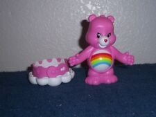 PINK CHEER CARE BEAR FIGURE - 4 INCHES TALL