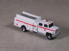 N Scale  White with Red Stripe Ford  Fire Pumper