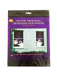 "Happy Halloween Ghosts Spooky Scary Horror Window Decoration 14 x 14"" Decor"
