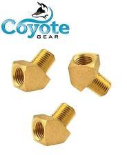 "3 Pack Lot 1/8"" NPT Street 45 Degree Elbow Brass Fitting FNPT MNPT Coyote Gear"