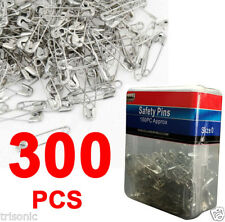 300 Pcs Nickel Plated Steel Sewing Crafting Beading Jewelry Safety Pins Size 0