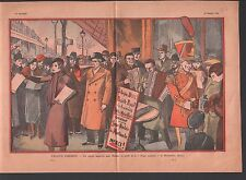 ARMÉE DU SALUT  Salvation Army  SOUPE  MONTMARTRE PARIS     ILLUSTRATION 1933