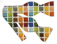 Painter's Palette Bow tie / Orange, Blue, Green, Red / Artist / Self-tie Bow tie