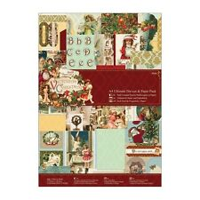 DOCRAFTS PAPERMANIA VICTORIAN CHRISTMAS A4 ULTIMATE DIE CUT & PAPER PACK - NEW
