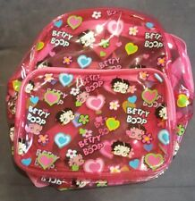 "2006 BETTY BOOP PVC SEE THROUGH BACKPACK 11"" x 9"""
