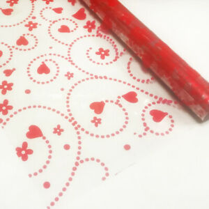 Swirling Red Love Hearts Cellophane Gift Wrap Paper Mothers Day Birthday Hamper