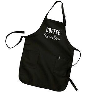Coffee Dealer Funny Barista Gift Caffeine Lover Addict Cooking Bib Kitchen Apron