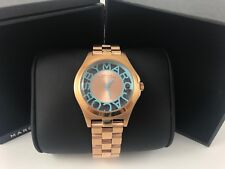 MARC BY MARC JACOBS Henry Skeleton Rose Gold-Tone Link Ladies Watch MBM3296