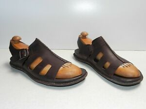 Keen Alman Men Leather Sandal Brown Casual Heel Strap Size 11.5