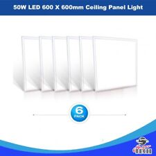 6 X 50W LED 600 x 600mm Ceiling Panel Light Office Recessed Light  5000 LM UK