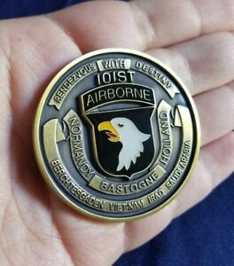 101st AIRBORNE DIVISION AIR ASSAULT SAUDI ARABIA GERMANY IRAQ CHALLENGE COIN