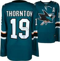 Joe Thornton Sharks Autographed Teal Fanatics Breakaway Jersey - Fanatics