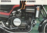 Honda VF750 Sports Brochure - c.1984