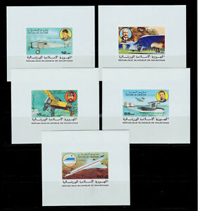 1977 MAURITANIA IMPERF.DELUXE SS AVIATION CONCORDE ADER BLERIOT SCT.367-71MI.576