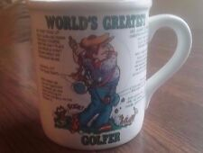 Papel Coffee Mug Cup, World's Greatest Golfer, white, hand decorated