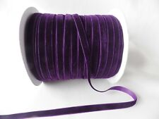 5m x 10mm Velvet Ribbon : Deep Purple
