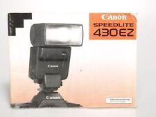Canon Speedlite 430EZ Gebrauchsanweisung