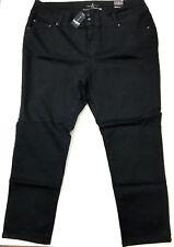 df3bc50826203 Ashley Stewart Modern Straight Leg 3-button Jeans Black Size 22r