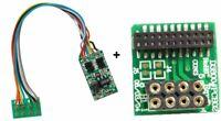 Hornby R8249 Loco Decoder Chip +  8-21 Pin Adaptor (Bachmann 36-557 Substitute)